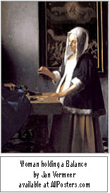 'AF-AllPosters.com Vermeer Woman holding a Balance'