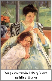 'AF-Art.com Young Mother Sewing  Mary Cassatt'